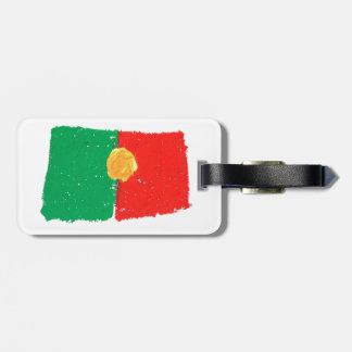 Portuguese Flag Luggage Tag