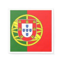Portuguese flag paper napkin