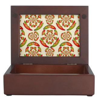 Portuguese flag pattern keepsake box