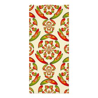 Portuguese flag pattern rack card