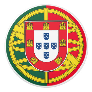 Portuguese flag quality ceramic knob