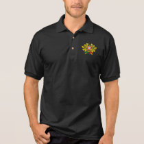 Portuguese flag quality polo shirt