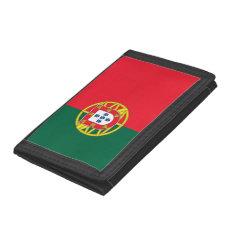 Portuguese Flag Quality Tri-fold Wallet at Zazzle