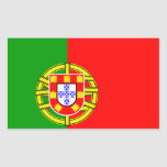 Portuguese flag rectangular sticker