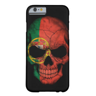 Portuguese Flag Skull on Black Barely There iPhone 6 Case