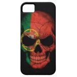 Portuguese Flag Skull on Black iPhone 5 Case