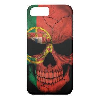 Portuguese Flag Skull on Black iPhone 7 Plus Case