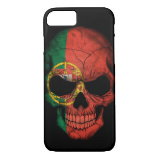 Portuguese Flag Skull on Black iPhone 8/7 Case