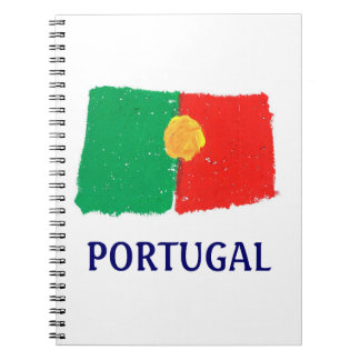 Portuguese flag spiral notebook