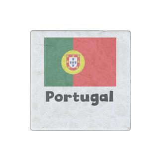 Portuguese Flag Stone Magnet