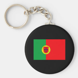 Portuguese Flag T-shirts and Gifts Basic Round Button Keychain