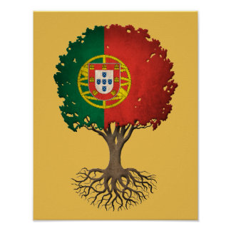 Portuguese Flag Tree of Life Customizable Poster
