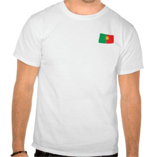Portuguese flag tee shirts