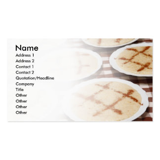 Portuguese food Double-Sided standard business cards (Pack of 100)