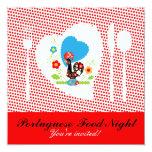Portuguese Food Night 5.25x5.25 Square Paper Invitation Card