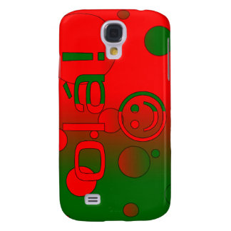 Portuguese Gifts Hello Ola + Smiley Face Galaxy S4 Covers