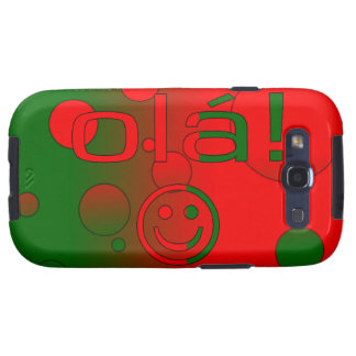 Portuguese Gifts Hello Ola + Smiley Face Galaxy SIII Case