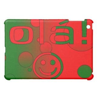 Portuguese Gifts Hello Ola + Smiley Face iPad Mini Cover