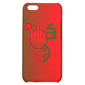 Portuguese Gifts Hello Ola + Smiley Face Case For iPhone 5C