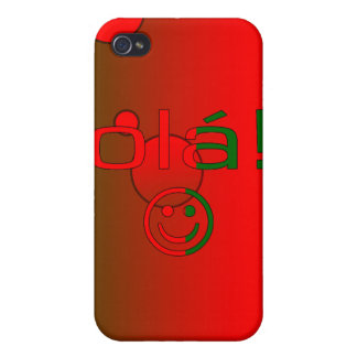 Portuguese Gifts Hello Ola + Smiley Face iPhone 4 Cases