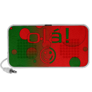 Portuguese Gifts Hello Ola + Smiley Face Mp3 Speaker