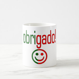 Portuguese Gifts Thank You Obrigado + Smiley Face Classic White Coffee Mug