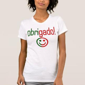 Portuguese Gifts Thank You Obrigado + Smiley Face Shirt