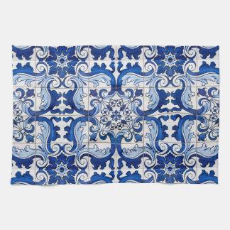 Portuguese Glazed Tiles Azulejo Style Kitchen Towel