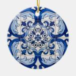 Portuguese Glazed Tiles Ceramic Ornament at Zazzle