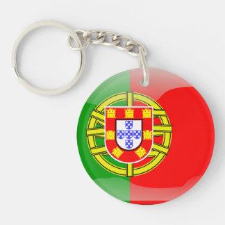 Portuguese glossy flag keychain