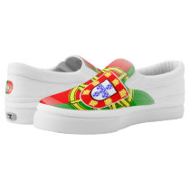 Portuguese glossy flag Slip-On sneakers