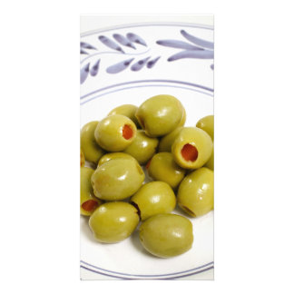 Portuguese green olives photo card