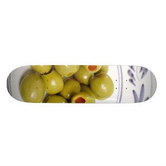 Portuguese green olives skateboard deck