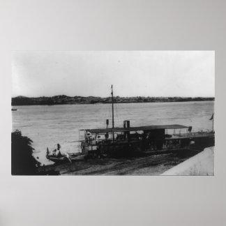 Portuguese gunboat Tete Mozambique Poster
