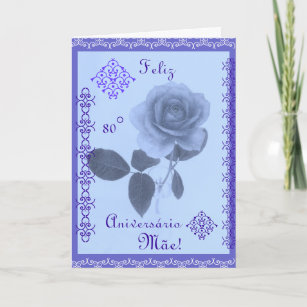 Portuguese Happy Birthday Mom Card
