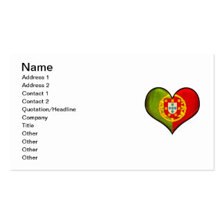 Portuguese heart Double-Sided standard business cards (Pack of 100)