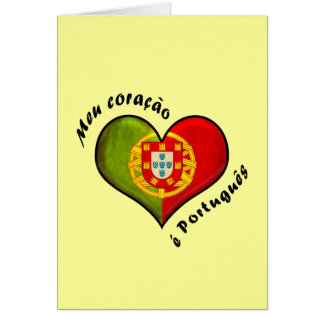 Portuguese heart card
