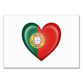 Portuguese Heart Flag on White Card