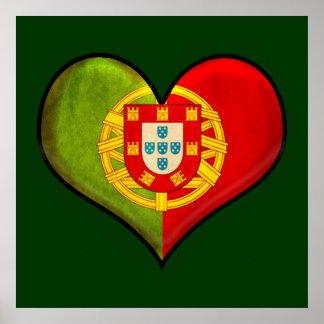 Portuguese heart poster