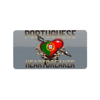 Portuguese Heartbreaker Address Label