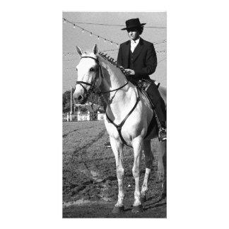 Portuguese horse rider card