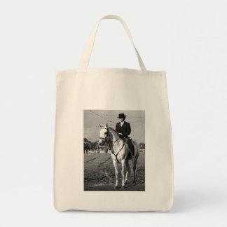 Portuguese horse rider tote bag