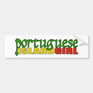 Portuguese Island Girl Bumper Stickers
