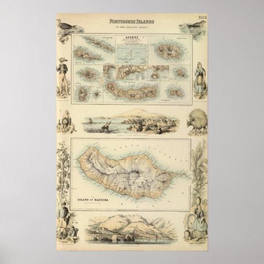 Portuguese Islands in the Atlantic Ocean Poster