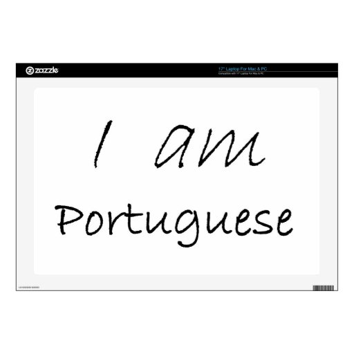 """Portuguese.jpg Decal For 17"""" Laptop"""