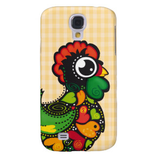 Portuguese Kawaii Barcelos Rooster  Galaxy S4 Cases