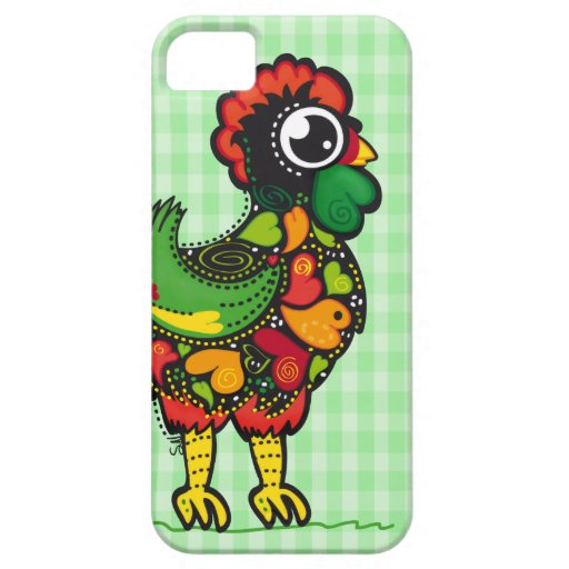 Portuguese Kawaii Rooster & Squares iphone5 case iPhone 5 Cover