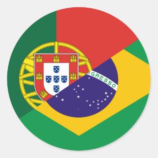 Portuguese Language hybrids Round Sticker