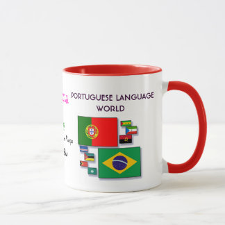 Portuguese Language World Mug