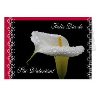 Portuguese: lirio Calla / jarro Valentine's day Card
